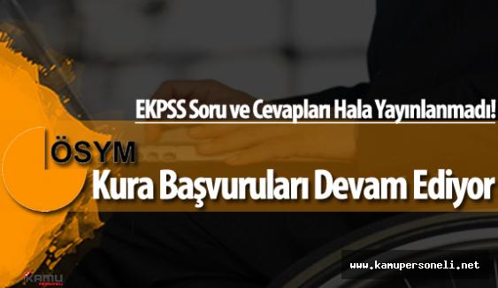2016 EKPSS Kura Usulüyle Yapılacak Yerleştirmelere Başvurular Devam Ediyor