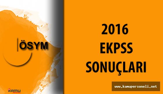 2016 EKPSS Sonuçları Açıklandı ( Sınav Hakkında Yorumlar ve Çok Daha Fazlası Kamupersoneli Sitesinde)