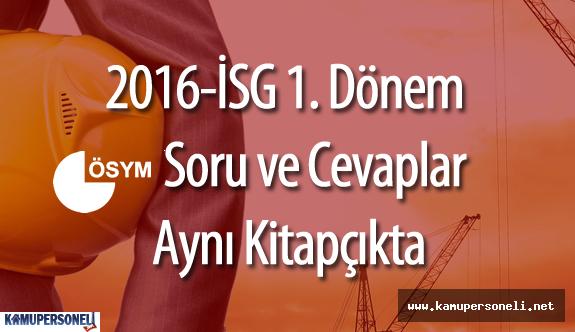 2016 İSG 'de Yeni Kitapçıklar Dağıtılacak