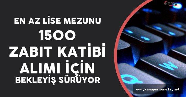 2016 KPSS Puanları İle 1500 Zabıt Katibi Daha AMA!