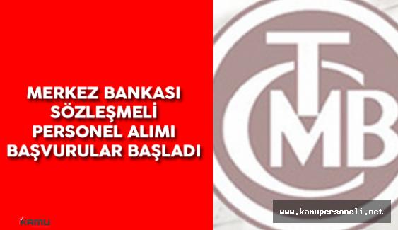 2016 Merkez Bankası Sözleşmeli Personel Alımı