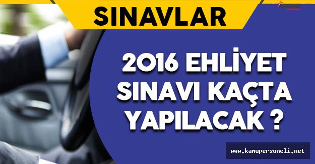 2016 Motorlu Taşıt Kursiyerleri (Ehliyet) Sınavı Saat Kaçta Yapılacak ? Kaç Saat Sürecek ?