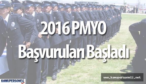 2016 PMYO Öğrenci Alımı İçin Başvurular Başladı