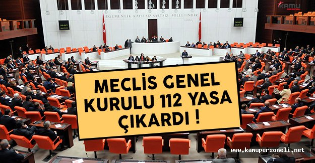 2016 yılında Meclis 112 yasa çıkardı