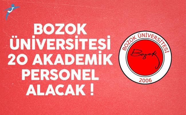 Bozok Üniversitesi 20 akademik personel alımı yapacak