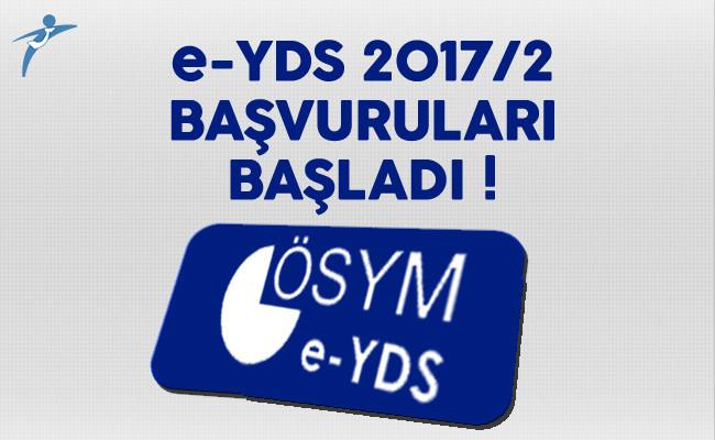 e-YDS 2017/2 Başvuruları Başladı !