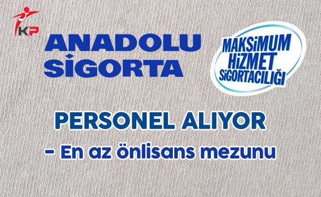 Anadolu Sigorta Personel Alımı Yapıyor