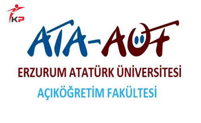 Atatürk Üniversitesi AÖF Ders Kayıt Süresi Uzatıldı