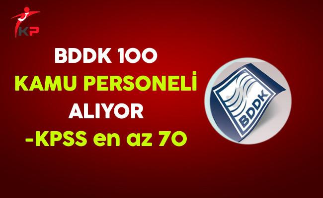 BDDK 100 Kamu Personeli Alımı Yapıyor