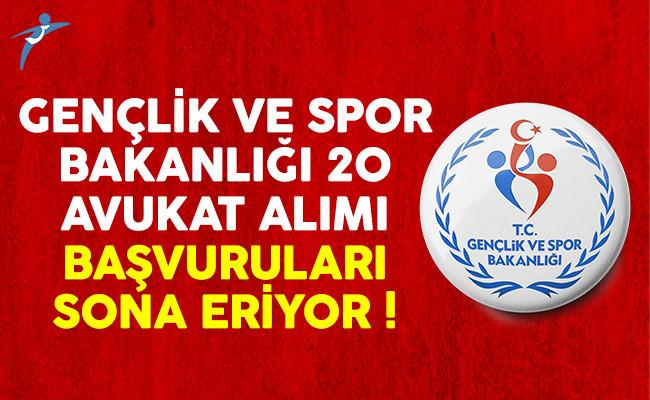 Genclik Ve Spor Bakanligi: Gençlik Ve Spor Bakanlığı (GSB) KYK 20 Avukat Alımı