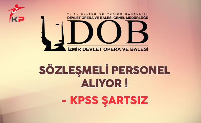 İzmir DOB Sözleşmeli Personel Alıyor