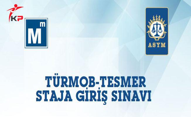 TÜRMOB-TESMER Staja Giriş Sınavı Bu Hafta Sonu Yapılacak