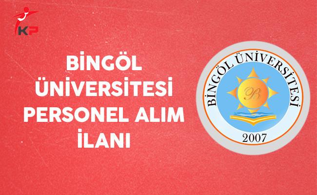 Bingöl Üniversitesi Personel Alım İlanı