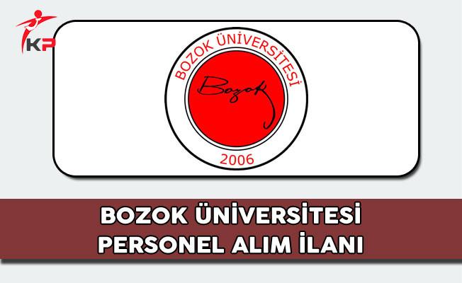 Bozok Üniversitesi Personel Alım İlanı 2017