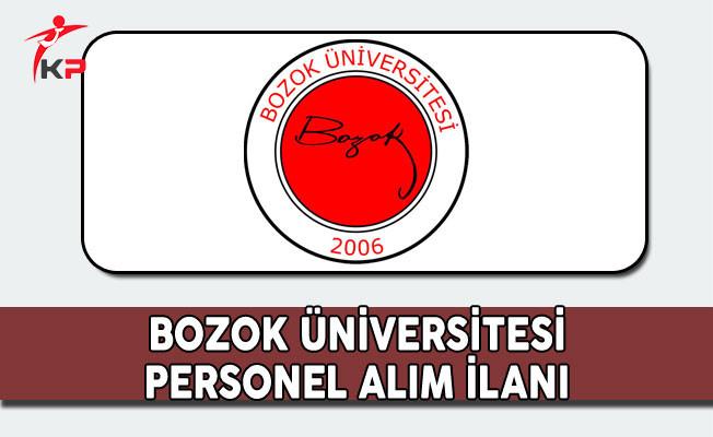 Bozok Üniversitesi Personel Alıyor