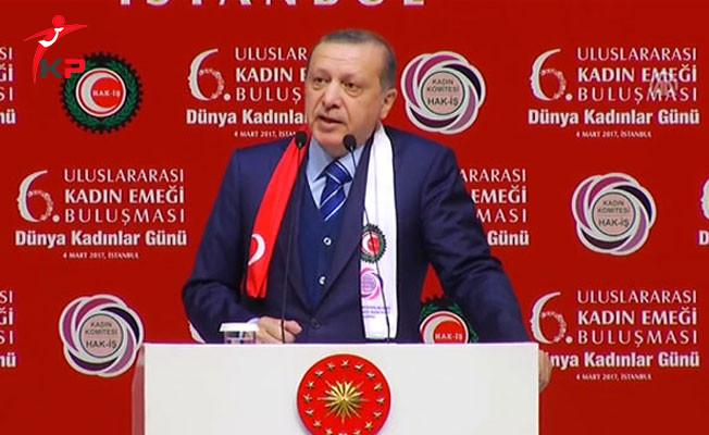Cumhurbaşkanı Erdoğan 6. Uluslararası Kadın Buluşması'nda Konuşma Yaptı