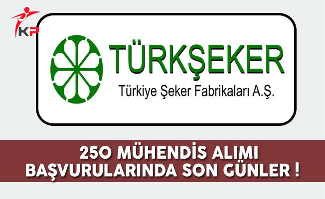 Türkiye Şeker Fabrikaları 250 Mühendis Alımı Başvurularında Son Günler