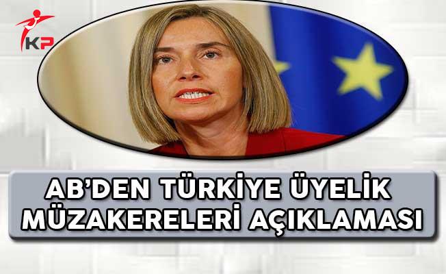 AB'den Türkiye Üyelik Müzakerelerine İlişkin Açıklama