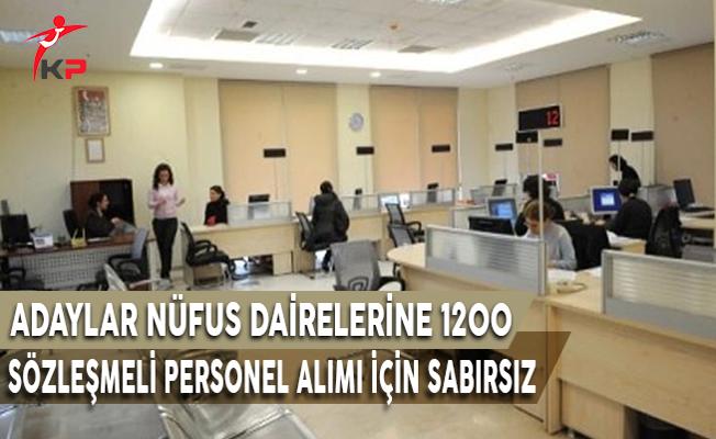 Adaylar Nüfus Dairelerine 1200 Sözleşmeli Personel Alım İlanı İçin Sabırsız