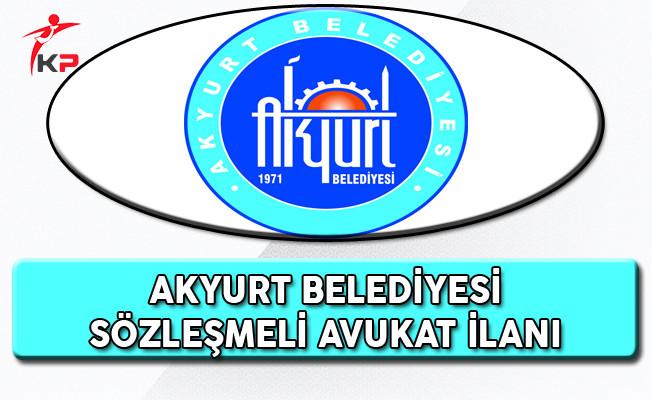 Akyurt Belediye Başkanlığı Sözleşmeli Personel Alım İlanı