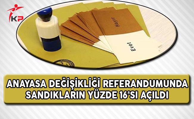 Anayasa Değişikliği Referandumunda Sandıkların Yüzde 16'sı Açıldı !