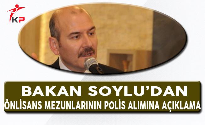 Bakan Soylu'dan Önlisans Mezunlarının Polis Alımları ile İlgili Açıklama!