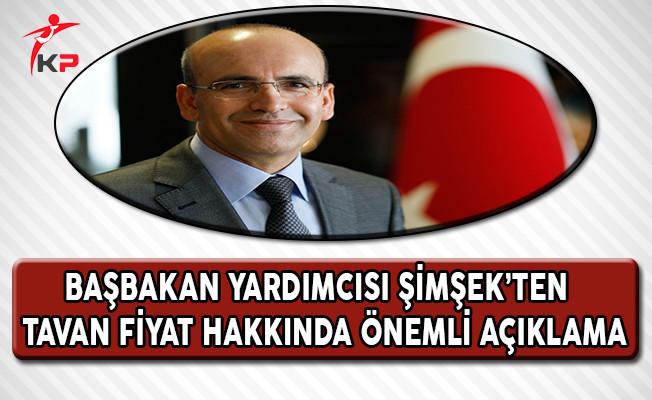 Başbakan Yardımcısı Şimşek'ten Tavan Fiyat Uygulaması Hakkında Önemli Açıklama