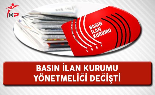 Basın İlan Kurumu Yönetmeliğinde Değişiklik Resmi Gazete'de Yayımlandı