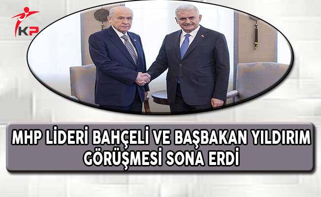 MHP Lideri Bahçeli ve Başbakan Yıldırım Görüşmesi Sona Erdi
