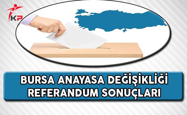 Bursa 2017 Referandum Sonuçları (Evet, Hayır Oranları)