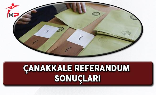 Çanakkale Referandum Sonuçları
