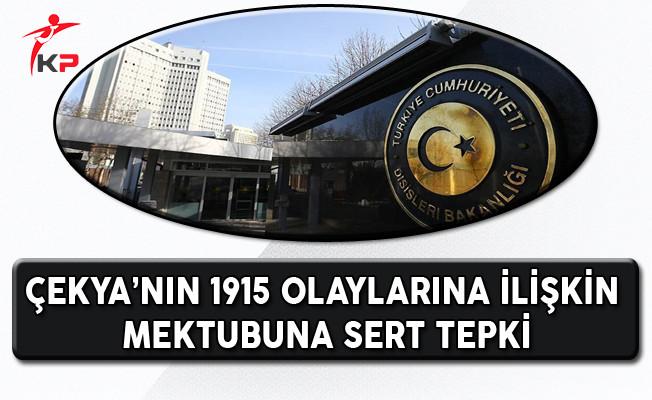 Çekya'nın 1915 Olayları İle İlgili Kararına Tepki