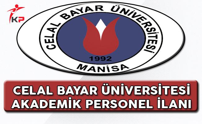 Celal Bayar Üniversitesi Akademik Personel Alım İlanı