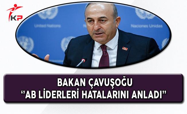 Dışişleri Bakanı Çavuşoğlu: AB Liderleri Hatalarını Anladı
