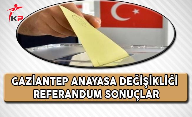 Gaziantep Referandum Sonuçları (Evet, Hayır Oranları)