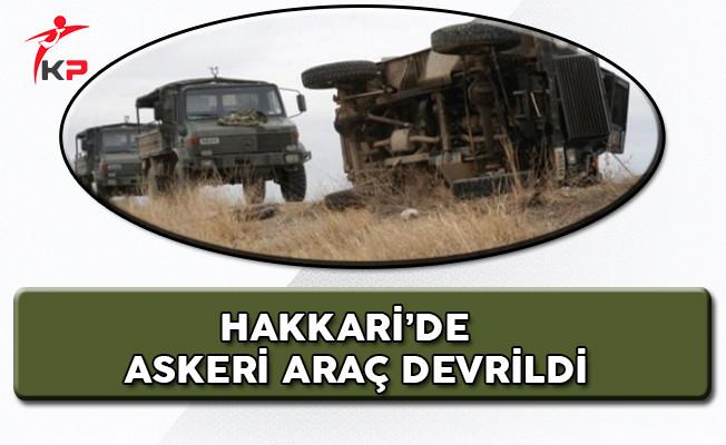 Hakkari'de Askeri Araç Kaza Yaptı Yaralı Askerler Var!