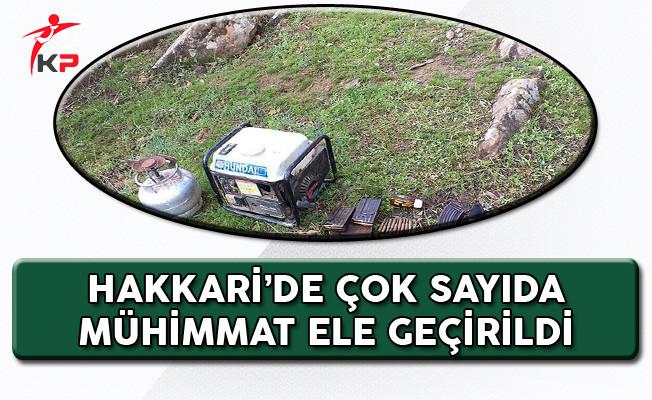 Hakkari'de PKK'ya Ait Mağara Mühimmatı Ele Geçirildi!