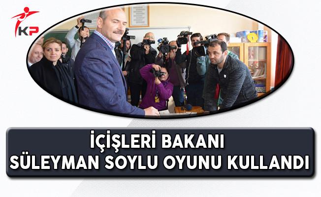 İçişleri Bakanı Süleyman Soylu Sandık Başına Gitti