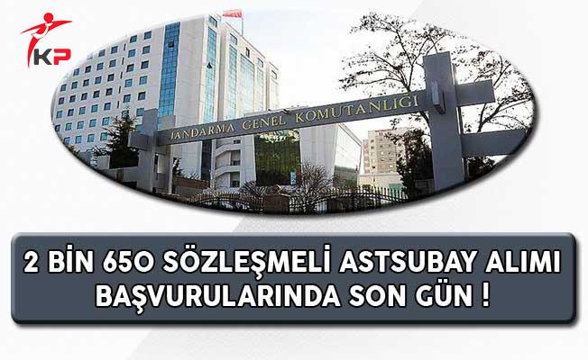 Jandarma 2 Bin 650 Sözleşmeli Astsubay Alımında Son Gün