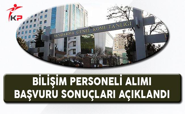 Jandarma Genel Komutanlığı Bilişim Personeli Başvuru Sonuçları Açıklandı