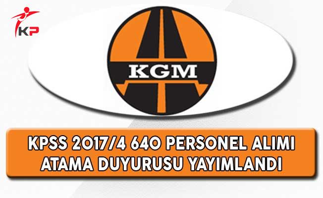 Karayolları Genel Müdürlüğü KPSS 2017/4 İle Atananlardan İstenilen Belgeler Açıklandı