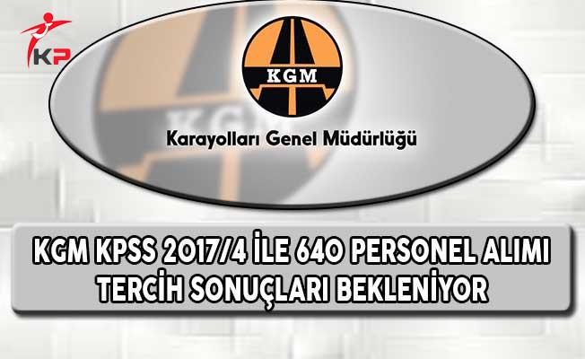 KPSS 2017/4 Karayolları Genel Müdürlüğünün Sözleşmeli Pozisyonlarına Yerleştirme Sonuçları Bekleniyor
