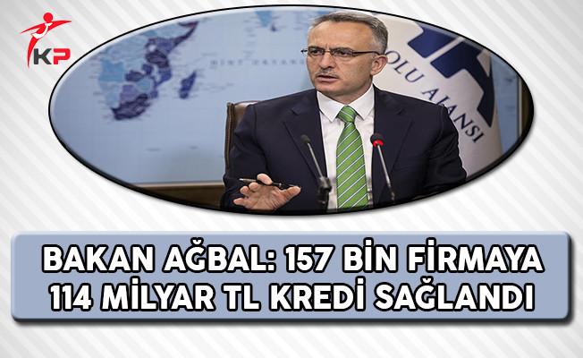 Maliye Bakanı Ağbal: 157 Bin Firmaya 114 Milyar TL Kredi Sağlandı