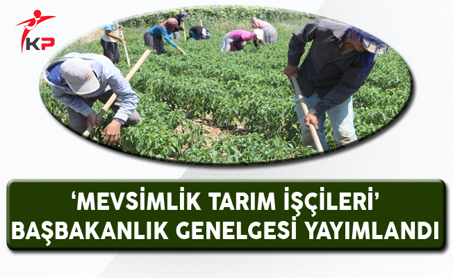 'Mevsimlik Tarım İşçileri' Genelgesi Resmi Gazete'de Yayımlandı