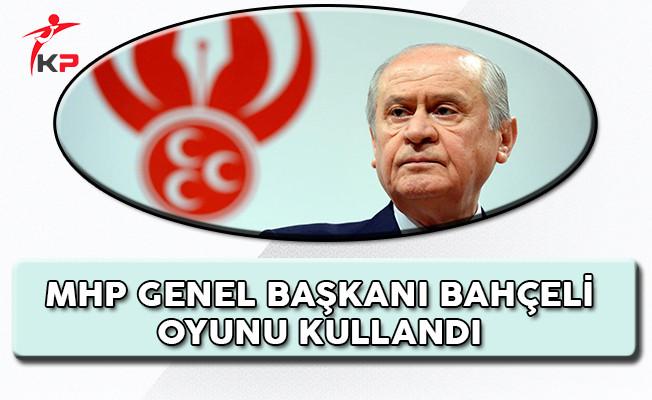 MHP Genel Başkanı Devlet Bahçeli Oyunu Ankara'da Kullandı