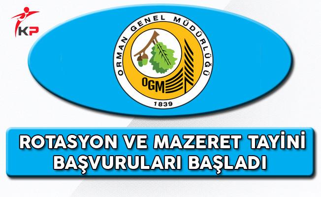Orman Genel Müdürlüğü Rotasyon ve Tayin Başvuruları Başladı