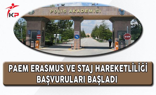 PAEM Erasmus ve Staj Hareketliliği Başvuruları Başladı