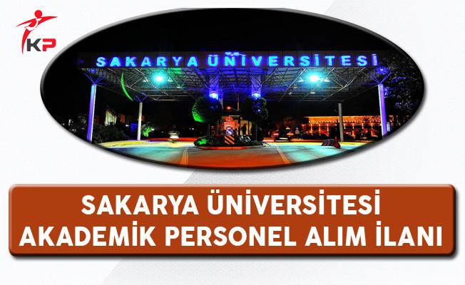 Sakarya Üniversitesi Akademik Personel Alım İlanı