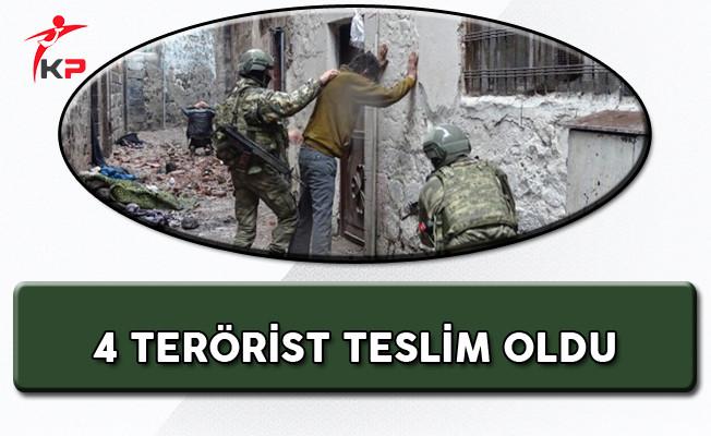 Şırnak'ta 4 PKK'lı Teslim Oldu!