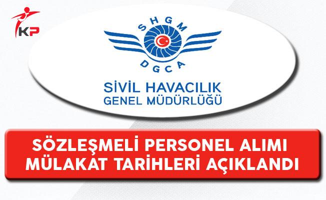 Sivil Havacılık Genel Müdürlüğü (SHGM) Personel Alımı Mülakat Tarihleri Açıklandı